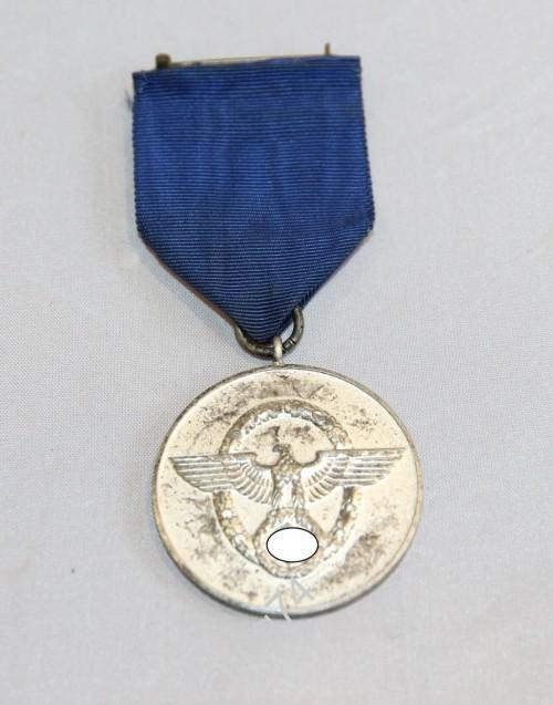 Медаль 8 лет службы в полиции. 3й рейх
