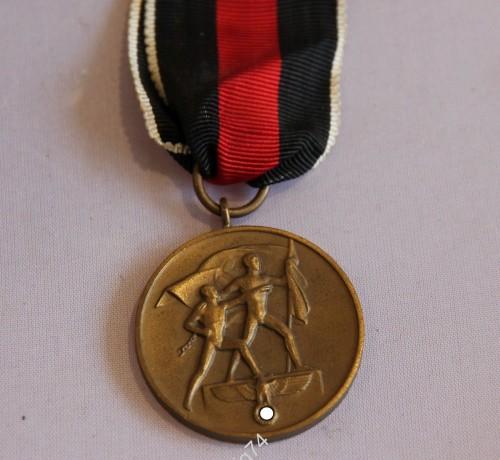 Медаль 1938г. Аншлюз судетской области. 3й рейх