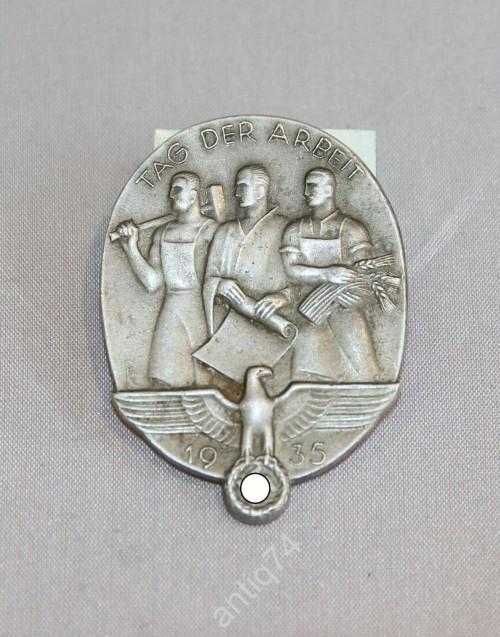 Знак День труда. 1935. 3-й рейх