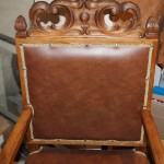 Кресло со львами, большое. Дуб? кожа