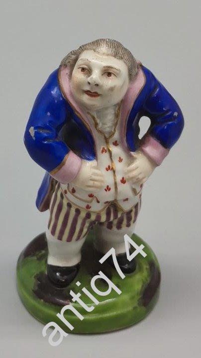 Фигурка «Пузатый помещик». Фарфор, Англия. 1800-1825 гг.