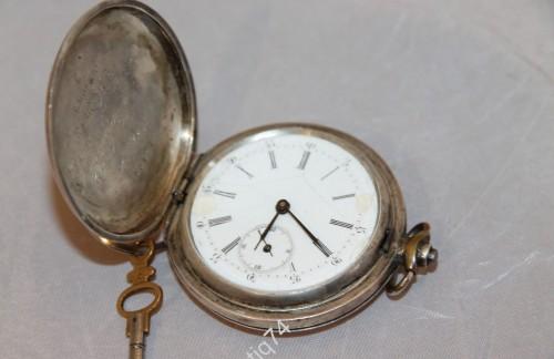 Часы карманные. Мозер, маленький номер. Комсоставу Кавкурсов. 1923г. Серебро, 84 проба.