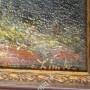 Большая картина. Висела в замке,принадлежала знатному роду маркизов. Сзади есть сургучные печати
