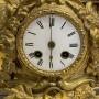 Старинные каминные часы, бронза, позолота. Мельник. Голландия, Франция? на ходу